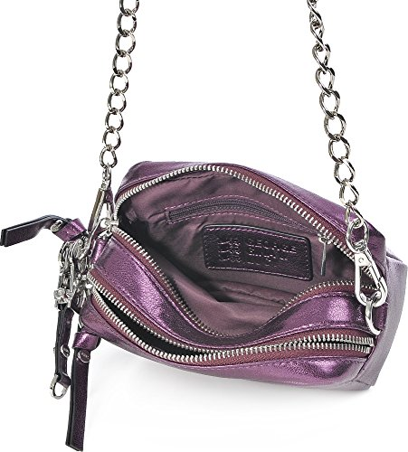 George Gina & Lucy Leather Nown Little Lilith Bolsas de hombro púrpura