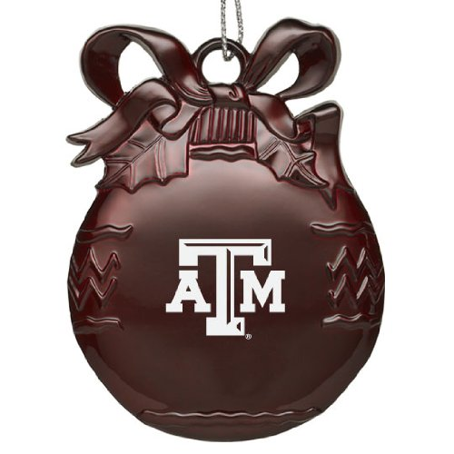 - LXG, Inc. Texas A&M University - Pewter Christmas Tree Ornament - Burgundy