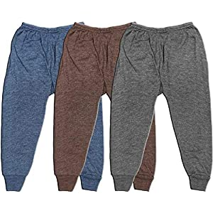 Trendy House Kids Baby Boy's and Baby Girl's Woollen Winter Body Warmer Solid/Plain Thermal Pyjama/Pyjami Bottom – (Pack…