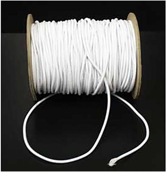 1mm Wide Round White Hat Elastic Cord Per 5 Metres Amazon Co Uk