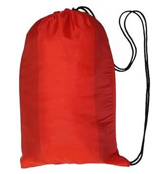 Rápido de aire hinchable-Saco de dormir para Camping cámaras playa Hangout laybag Lazy sofá, color rojo: Amazon.es: Deportes y aire libre