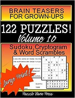 Brain Teasers for Grown-Ups: Large Print Sudoku, Cryptogram