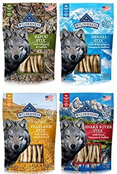 BLUE Wilderness Grain-Free Dog Stix, 4 Flavor pack