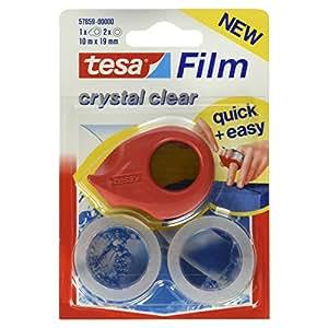 Tesa Tesafilm - Cinta adhesiva con minidispensador (10 m x 19 mm), transparente