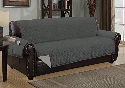 Sofa Guard Deluxe Reversible Sofa Furniture Protector, Grey / Light Grey