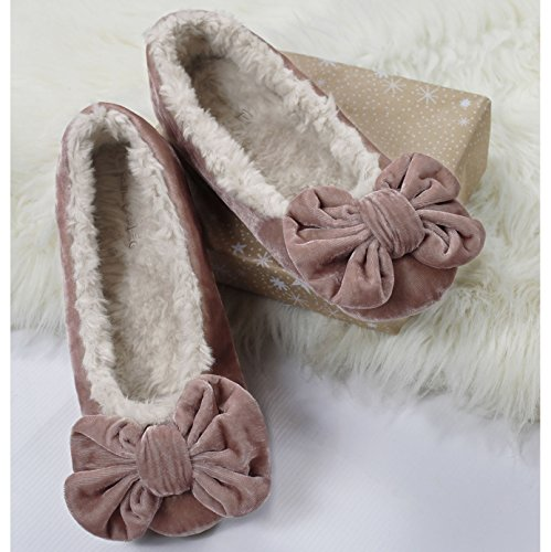 Ruby and Ed , Chaussons pour femme rose rose