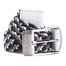 Under Armour Men\'s Braided Belt, White/Graphite, 34