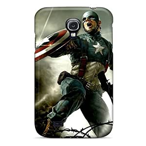 Special Design Back Captain America Cg Phone Case Cover For Galaxy S4
