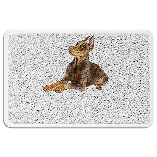 EZON-CH Doormats for Entrance Way Outdoors Indoor,Cute Pharaoh Hound All Weather Door Mats for High Traffic Areas Floor Mats with Shoe Scraper,18 x 30 - New Pharaoh Hound