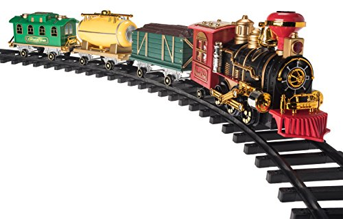 Christmas Train Set- Around the Christmas Tree with Real Smoke, Music & (North Pole Express)