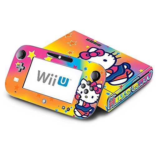 Hello Kitty Rainbow Star Decorative Decal Cover Skin for Nintendo Wii U Console and GamePad