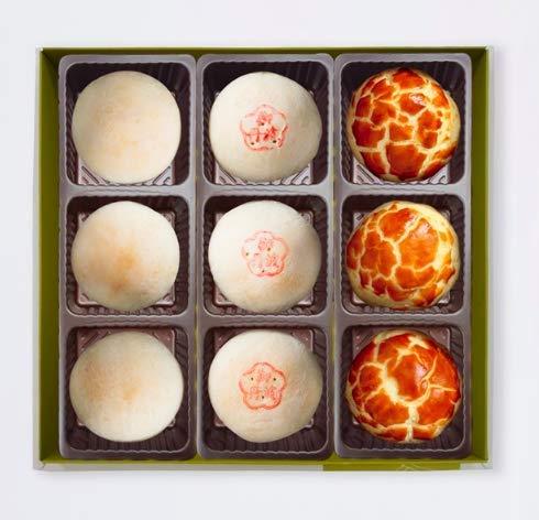 - Taiwan Japanese style omiyage fresh shipping 陳允宝泉Chen Yun Poa Chuan mini moon cakes Gift Box (9pcs (3 flavors))