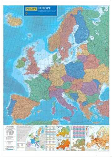 Map Of Europe With Scale.Philip S Reference Map Europe Political 9780540089154 Amazon Com