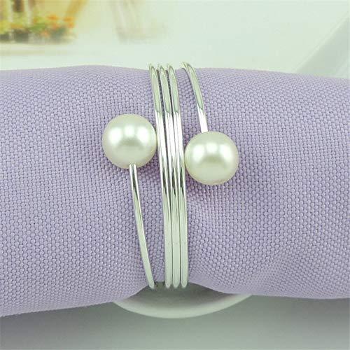 Best. Lovely 12pieces/lot Napkin Rings Plastic Resin Napkin Buckle Pearl Paper, Napkin Ring Set Decoration, Ring Napkin Holders, White Flowers Napkin Ring