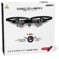 """Force1 Drones with Camera – """"UDI U818A Discovery"""" Camera Drone with 720p HD RC Quadcopter Drone Camera w/ Micro SD Card + Power Bank and Bonus Battery"""