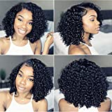 Thriving 8A Full Lace Wigs for Black Women Curly Brazilian Virgin Hair Glueless Lace Front Wigs with Baby Hair(12inch with 150% density, lace front wigs)