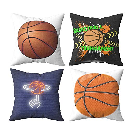 - throw pillow covers 20 x 20,20x20 Pillow Case,Shorping Zippered Covers Pillowcases Throw Pillow Covers Basketball Spinning Finger Neon Sign Team Game And sport Concept Advertisement Design for Home So