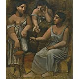 'Pablo Picasso-Three Women at the Spring,1921' oil painting, 8x9 inch / 20x24 cm ,printed on Perfect effect Canvas ,this Best Price Art Decorative Canvas Prints is perfectly suitalbe for Bathroom gallery art and Home decoration and Gifts