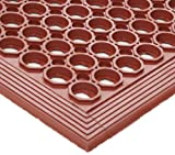 Crown WSTF35TC Safewalk Heavy-Duty Anti-Fatigue Drainage Mat, Grease-Proof, 36x60, Terra Cotta