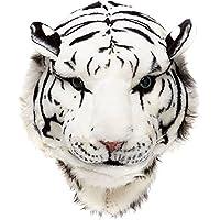 Glanzzeit 3D Animal Head Backpack Cool Design Panda Tiger Lion Panther Knapsack (Large, White Tiger)