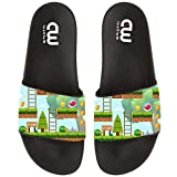 Game Template In Forest Scene Summer Slide Slippers For Girl Boy Kid Non-Slip Sandal Shoes size 1