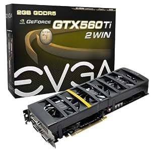 EVGA GeForce GTX 560 Ti 2Win DUAL GPU 2048MB GDDR5 PCI Express 2.0 Dual DVI + miniHDMI Graphics Card 02G-P3-1569-KR Black