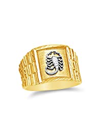 14k Yellow Gold Men's Lobster Ring