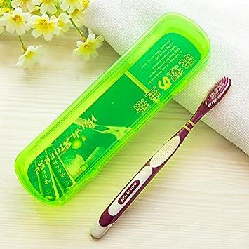 CWAIXX Cepillo de dientes caja simple cepillado dental diente tubo portátil cepillo de dientes crema dental para lavado caja de almacenaje con tapa de viaje ...
