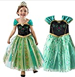 Anna Coronation Dress Disney Frozen Inspired Girl Costume Kids Size 3T-10 USA