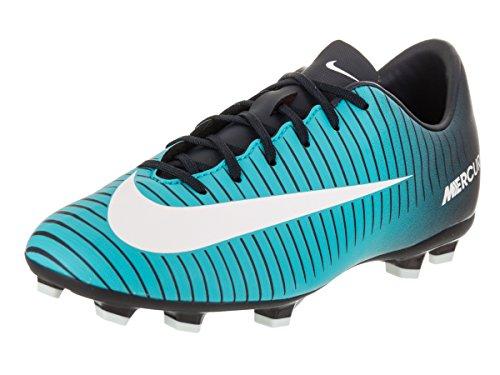 Nike Jr. Mercurial Victory VI FG Soccer Cleat (Sz. 4Y) Obsidian, Gamma Blue