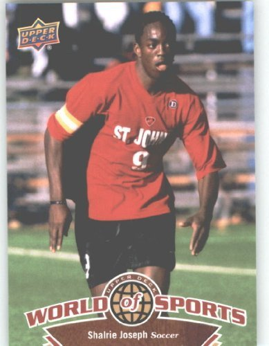 2010 Upper Deck World of Sports Trading Card # 96 Shalrie Joseph - Soccer Cards - Red Storm