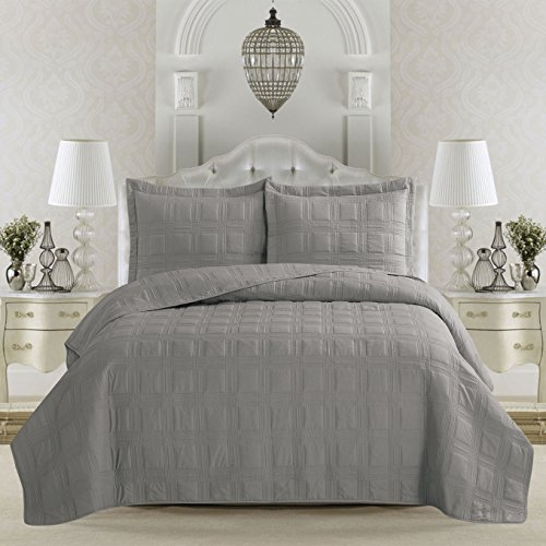 Terra Collection 3-Piece Luxury Quilt Set with
