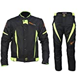 Motorcycle Rain Suit Waterproof Windproof Ricing Jacket and Pants, Set of 2Pcs