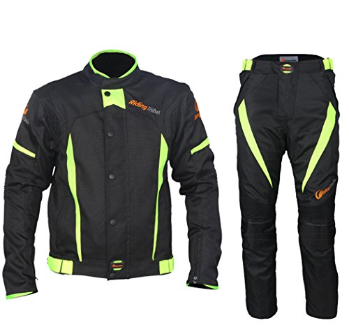 (Motorcycle Rain Suit Waterproof Windproof Ricing Jacket and Pants, Set of 2Pcs)