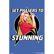 The Big Bang Theory Poster Set Phasers To Stunning! (55,9cm x 86,4cm) + plus white fabulous protective gift tube