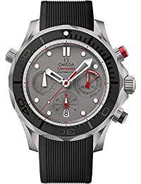 Omega Seamaster Diver 300 Chronograph Automatic Grey Dial Black Rubber Mens Watch 21292445099001