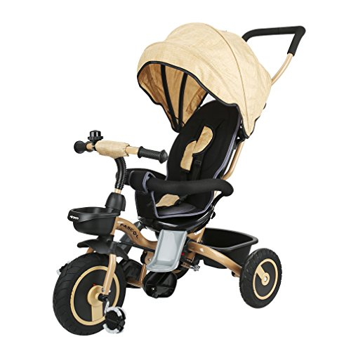 Fascol Folding Kids' Tricycles for 6 Month 5 Years Old,Weight Supported 30 kg