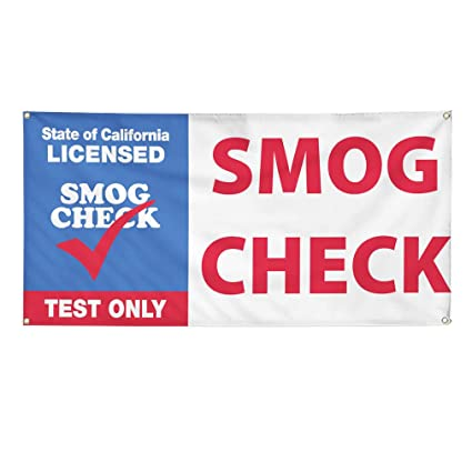 Smog Check Cost >> Amazon Com Vinyl Banner Sign California Licensed Smog