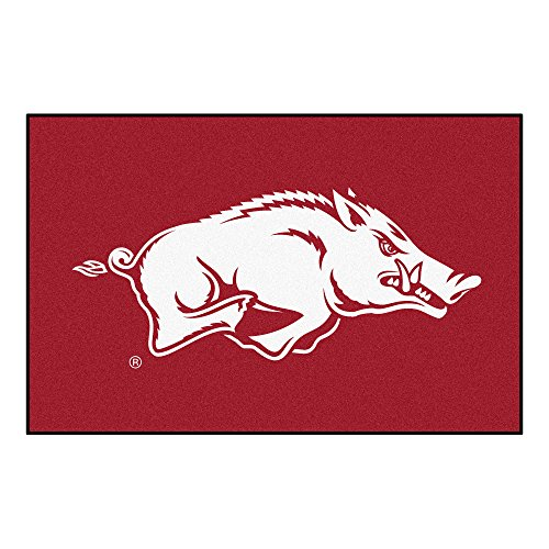 FANMATS NCAA University of Arkansas Razorbacks Nylon Face Starter Rug