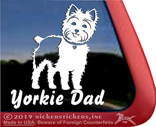 YORKIE MOM YORKSHIRE TERRIER DOG PET FUNNY DECAL STICKER CAR VINYL WALL