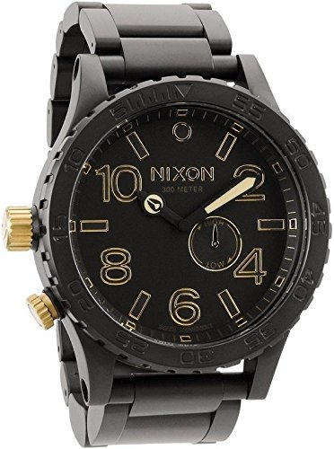 Nixon Men's A057-041 Stainless-Steel Analog Black Dial Watch