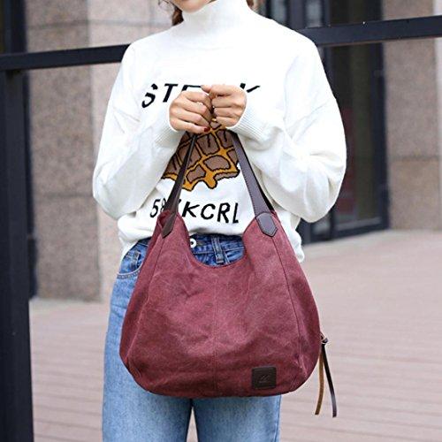 ✦JiaMeng Hombro Callejero Bag Bolsos Púrpura Messenger Moda Bolso Bandolera de Unisex rgXar0qw