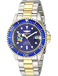 Mens Disney Limited Edition Automatic Stainless Steel Casual Watch, Color Two Tone (