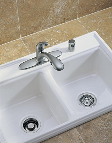 Delta Faucet 72010-AR Flange and Strainer Kitchen Sink, Arctic Stainless by DELTA FAUCET (Image #3)