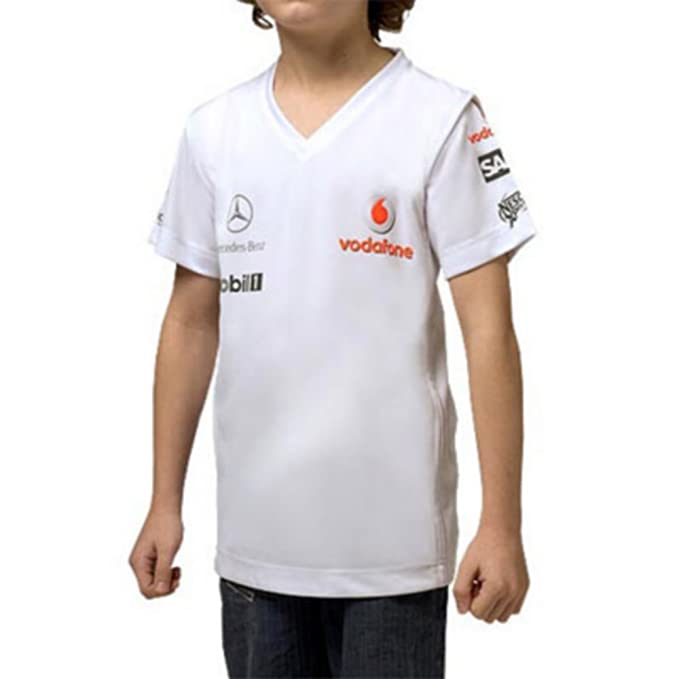 McLaren - Camiseta Vodafone Mercedes F1 para niño blanco Small ...