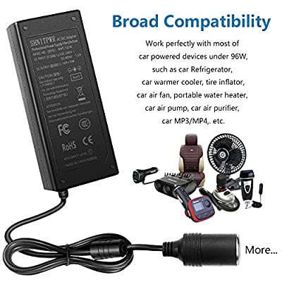 SHNITPWR 12V 120W AC to DC Converter Car Cigarette Lighter Socket, AC 110~240V to 12 Volt 10 Amp DC Power Supply Adapter Transformer for Car Vacuum Cleaner, Car Refrigerator and Other Car Devices: Home Audio & Theater