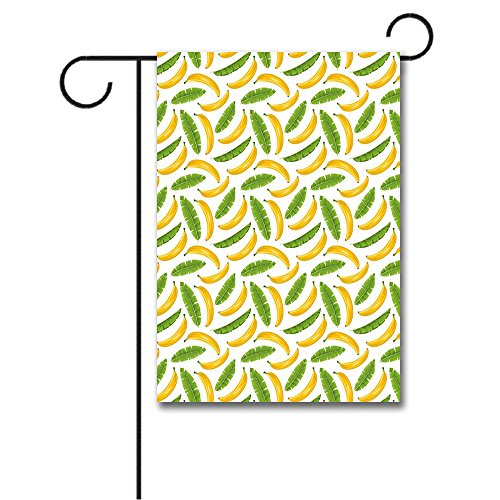 Vacation Icons (Wondertify Garden Flags Playroom Banana Leaves Yummy Tropical Fruit Vacation Symbol Icons Climate Kids Double Sided House Decoration Polyester Garden Flag 12 X 18 Inches)