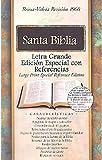 RVR 1960 Biblia Letra Grande Edición Especial con Referencias, borgoña piel fabricada con índice (Spanish Edition)