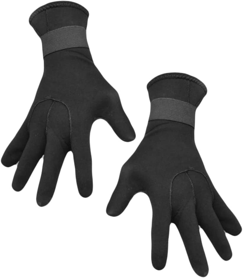 Surfing Kayaking and All Water Activities for Men and Women 3MM Five Finger Wetsuit Gloves for Scuba-Diving,Snorkeling Toygogo Neoprene Diving Gloves
