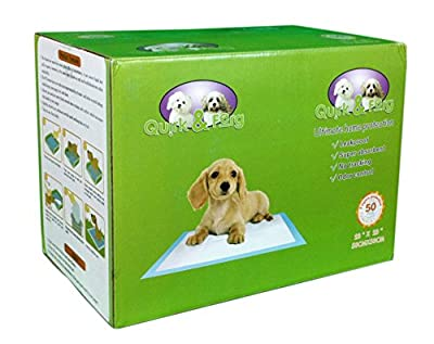 "Dog Pee Pads For Puppy Potty Training Dog Wee Wee Pads - Super Absorbent Large 23"" x 23"" Pack Of 50 Count Pads - Designed For both Cats & Dogs - The Ultimate In Home Protection & Cleanliness"